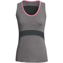 Tasc Continuum Tank Top - UPF 50+, Orgnanic Cotton Blend (For Women) in Heather Grey/Candy - Closeouts