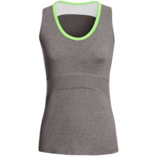 Tasc Continuum Tank Top - UPF 50+, Orgnanic Cotton Blend (For Women) in Heather Grey/Lime - Closeouts