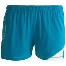 Tasc Dynamo Shorts - UPF 50+ (For Women) in Sharktank/Lime - Closeouts