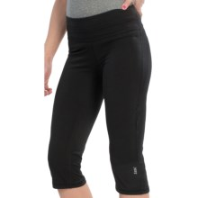 tasc Fitted Training Capris - Organic Cotton-Viscose (For Women) in Black - Closeouts
