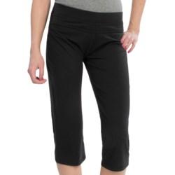 tasc Loose Fit Training Capris - Organic Cotton-Viscose (For Women) in 001 Black
