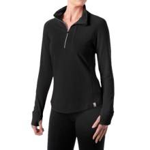 tasc Northstar Fleece Pullover Shirt - UPF 50+, Zip Neck, Long Sleeve (For Women) in Black - Closeouts