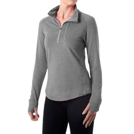 tasc Northstar Fleece Pullover Shirt - UPF 50+, Zip Neck, Long Sleeve (For Women) in Heather Gray - Closeouts