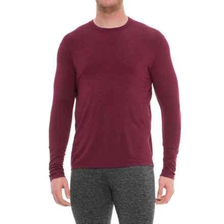 tasc Performance Hemisphere T-Shirt - Merino Wool, UPF 50+, Long Sleeve (For Men) in Red Beans - Closeouts