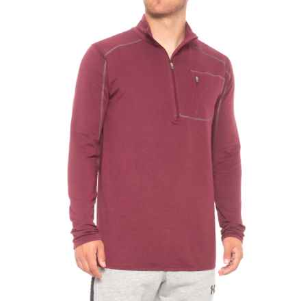 tasc Performance tasc Tahoe Fleece Shirt - Zip Neck, Long Sleeve (For Men) in Red Beans - Closeouts