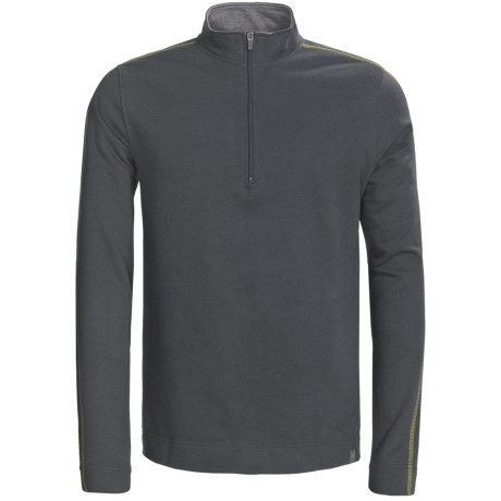tasc Piedmont Fleece Pullover - UPF 50+, Zip Neck, Long Sleeve (For Men) in Gunmetal