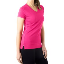 tasc Streets V-Neck T-Shirt - UPF 50+, Short Sleeve (For Women) in Fruit Punch - Closeouts
