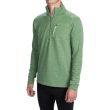 tasc Tahoe Fleece Shirt - Zip Neck, Long Sleeve (For Men) in Mossy/Heather - Closeouts