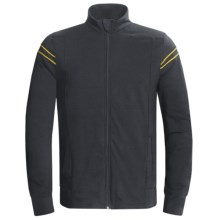 Tasc Track Jacket - UPF 50+, Organic Cotton (For Men) in Gunmetal/Yellowfin - Closeouts