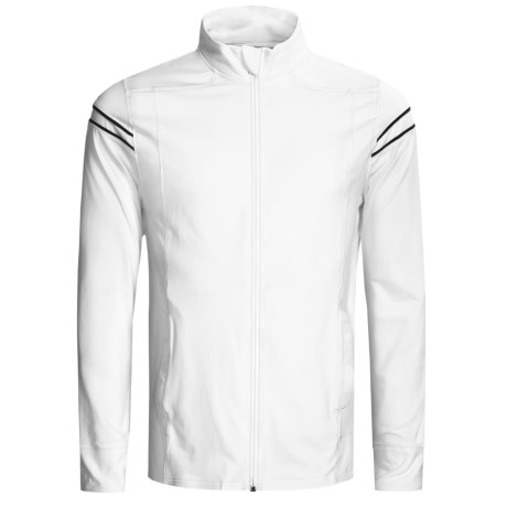 tasc Track Jacket - UPF 50+, Organic Cotton (For Men) in White/Gunmetal