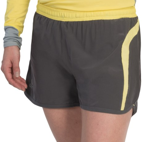tasc Vortex Shorts - UPF 50+, Built-In Briefs, Viscose-Organic Cotton (For Women) in Gunmetal/Sun