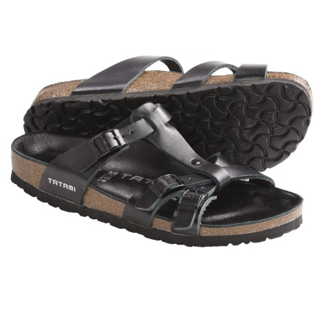 Tatami by Birkenstock Aurora Sandals - Leather (For Women) in Blade Black