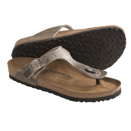 Tatami by Birkenstock Gizeh Impression Sandals - Leather (For Women) in Antique Grey