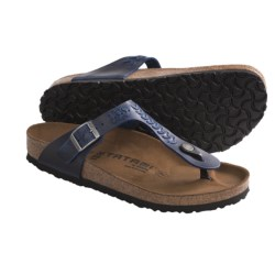 Tatami by Birkenstock Gizeh Woven Sandals - Leather (For Women) in Rosewine