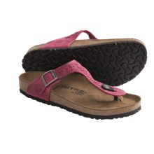 Tatami by Birkenstock Gizeh Woven Sandals - Leather (For Women) in Rosewine - Closeouts