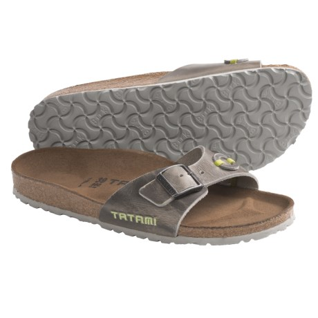 Tatami by Birkenstock Madrid Applique Sandals - Leather (For Women) in Antique Grey/Rosewine