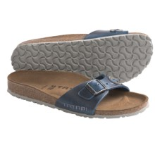 Tatami by Birkenstock Madrid Applique Sandals - Leather (For Women) in Antique Limoges/Grey - Closeouts