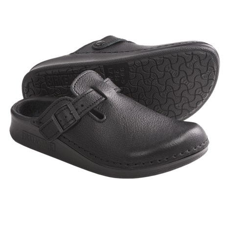 Tatami by Birkenstock Oklahoma Clogs - Leather, Slip-Ons (For Men and Women) in Buffalo Black