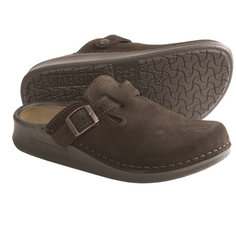 Tatami by Birkenstock Oklahoma Clogs - Suede, Slip-Ons (For Men and Women) in Mocha