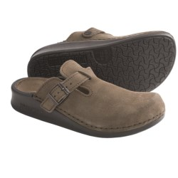 Tatami by Birkenstock Oklahoma Clogs - Suede, Slip-Ons (For Men and Women) in Taupe