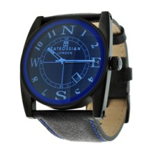 Tateossian Gulliver Colore Watch - Leather Strap (For Men and Women) in Blue - Closeouts