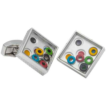 Tateossian London Maze Cufflinks (For Men) in Silver Rhodium Multi - Closeouts