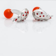 Tateossian Rhodium Themed Cufflinks (For Men) in Ladybug - Closeouts