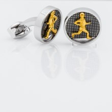 Tateossian Rhodium Vintage Sports Cufflinks (For Men) in Vintage Running - Closeouts