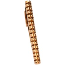 Tateossian Rose Gold Grid Tie Clip in Pink Gold - Closeouts