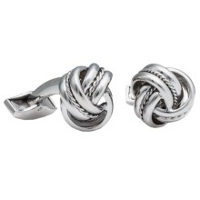 Tateossian Royal Cable Knot Cufflinks - Sterling Silver (For Men) in Silver - Closeouts