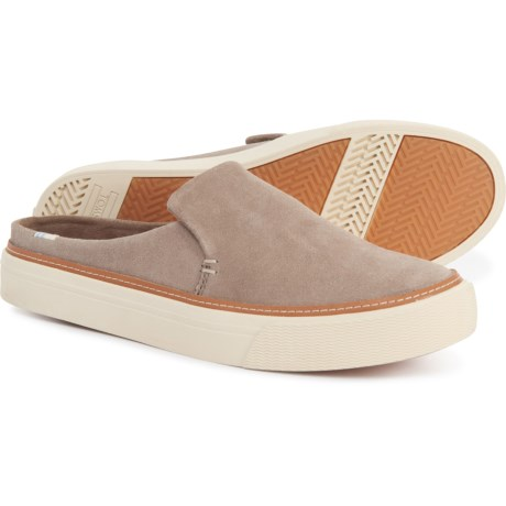 Taupe Desert Sunrise Mule Sneakers - Suede (For Women) - TAUPE (12 )