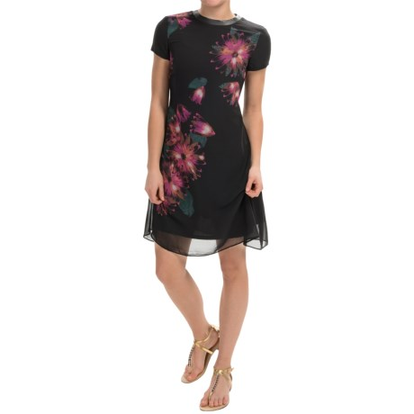 Taylor Dress Chiffon Dress Short Sleeve (For Women)