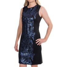 Taylor Dress Scuba and Sequin Dress - Sleeveless (For Women) in Black Cobalt - Closeouts