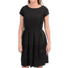 Taylor Dress Textured Knit Dress - Short Sleeve (For Women) in Black - Closeouts