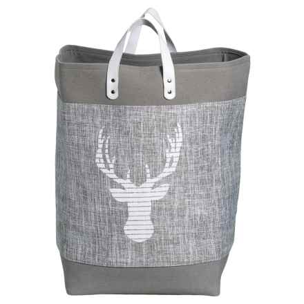 Taylor Madison Designs Caribou Fabric Market Tote Bag - Large in Gray/White - Closeouts