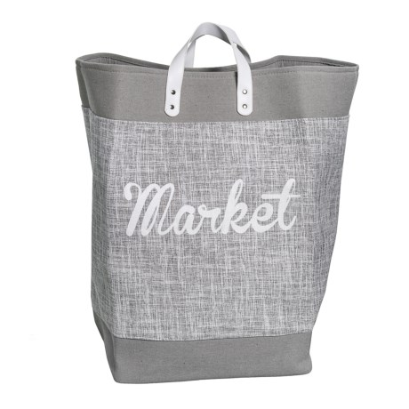 Taylor Madison Designs Large Maybel Market Tote in Gray/White