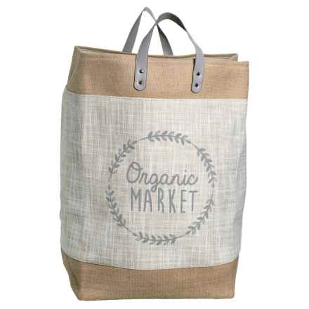 Taylor Madison Designs Organic Market Tote Bag - Large in Cream/Burlap/Gray - Closeouts