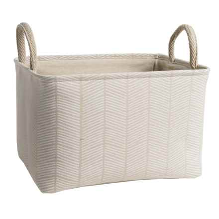 Taylor Madison Designs Soft Storage Tote Bin - Canvas, Large in Natural/White - Closeouts