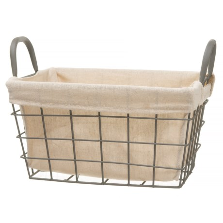 Taylor Madison Designs Tapered Rectangle Wire Basket - Small in Dark Gray