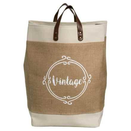 Taylor Madison Designs Vintage Market Tote Bag - Large in Cream/Burlap/White - Closeouts