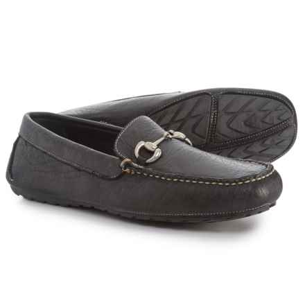 T.B. Phelps Laramie Bit Driver Loafers - Leather (For Men) in Black - Closeouts