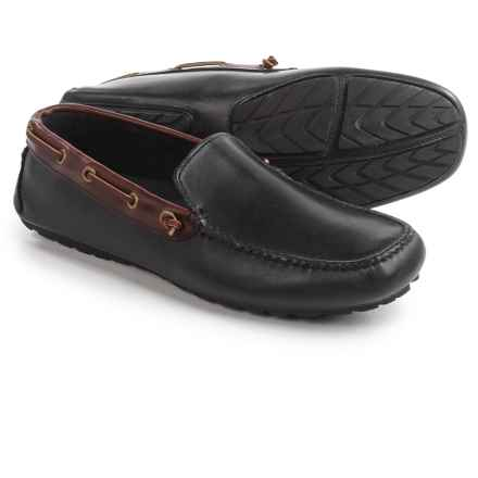 T.B. Phelps Magellan Driving Shoes - Leather (For Men) in Black/Briar - Closeouts
