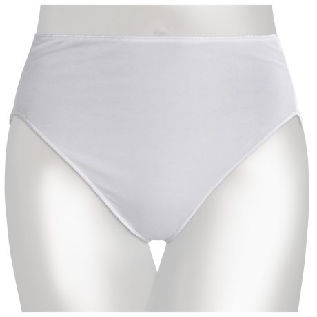 TC Intimates Edge Cotton Panties - Hi-Cut Briefs (For Women) in White