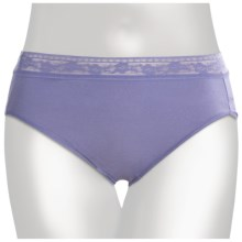 TC Intimates Edge Lace-Trim Underwear - Hi-Cut Briefs (For Women) in Persian Violet - Closeouts