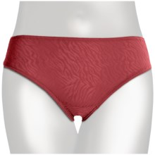 TC Intimates Edge Lace Underwear - Hi-Cut Briefs (For Women) in Holiday Red - Closeouts
