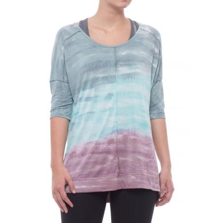 Te Verde Oversized Tie-Dye Shirt - Elbow Sleeve (For Women) in Slate Rock