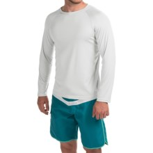 Teal Cove Raglan Rash Guard - UPF 20+, Long Sleeve (For Men) in White - Closeouts