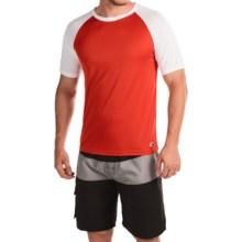 Teal Cove Raglan Rash Guard - UPF 20+, Short Sleeve (For Men) in Lava/White - Closeouts