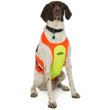 Team Realtree Dog Chest Protector - Reflective in Yellow/Blaze Orange - Closeouts