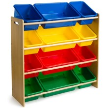 Teamson Deluxe Organizing Shelf with Bins in Multi - Closeouts